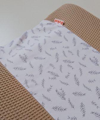 Aankleedkussenhoes beige - takjes