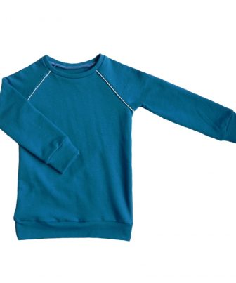 Sweater Petrolblauwe Spikkel