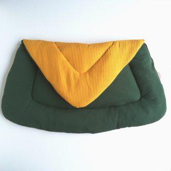 Boxkleed Tripus okergeel - groene spikkel