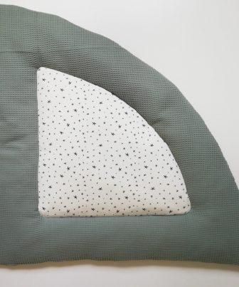 Boxkleed kwart rond groen - sterretjes