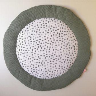Boxkleed Rond groen - cirkels