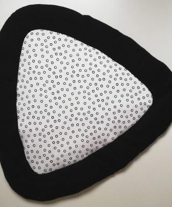 Boxkleed Tripus zwart - cirkels