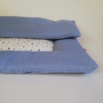 Boxkleed blauw - sterretjes