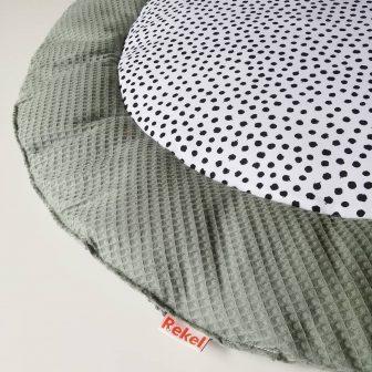 Boxkleed Rond groen - stippen