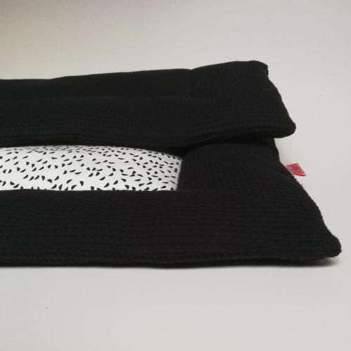 Boxkleed zwart - halve rondjes
