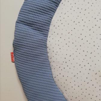 Boxkleed Rond blauw - maan en sterren