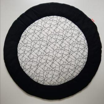 Boxkleed Rond zwart - geometrisch