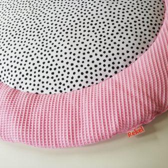 Boxkleed rond roze - stippen