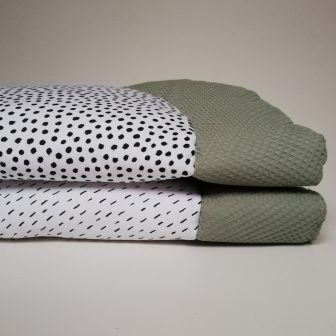 Boxkleden rond groen - zwart wit