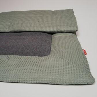 Boxkleed Groen - Grijze Spikkel