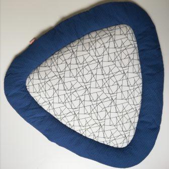 Boxkleed Tripus blauw - geometrisch
