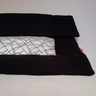Boxkleed zwart - geometrisch