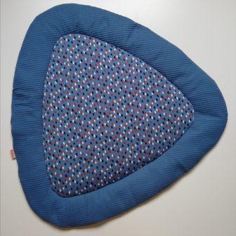 Boxkleed Tripus blauw - penseelstreepjes blauw