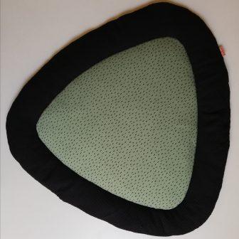 Boxkleed Tripus zwart - druppels groen